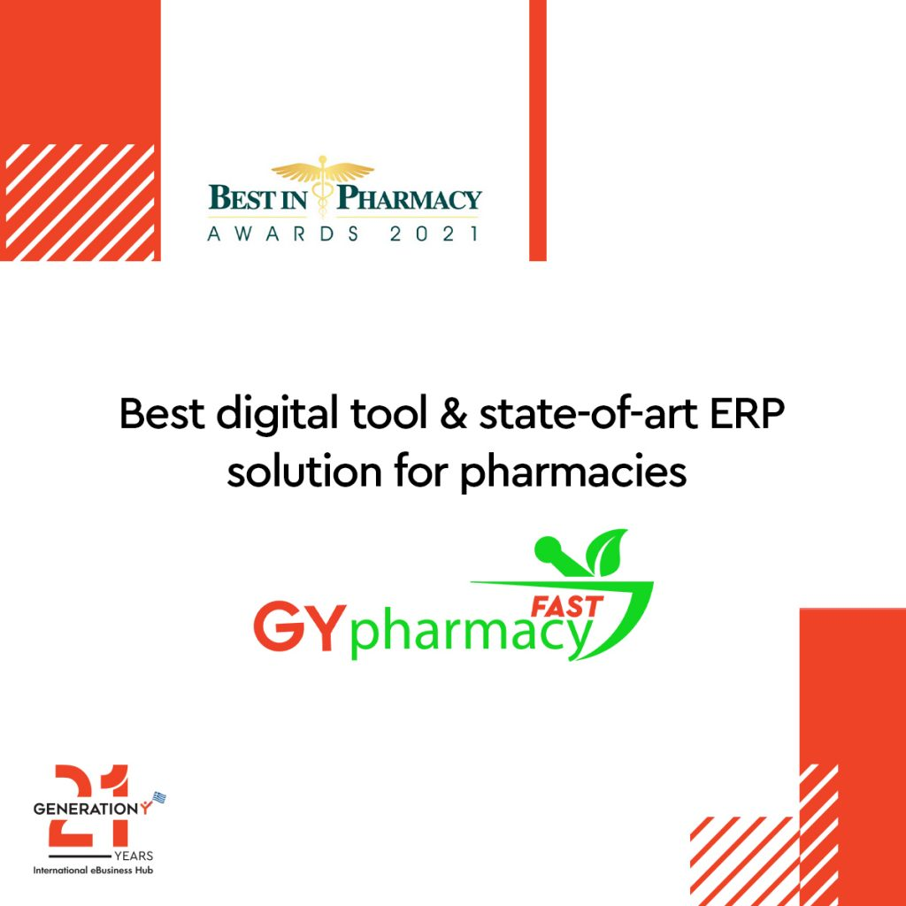 GY FAST PHARMACY awarded as innovative tool for the digital transformation of pharmacies.